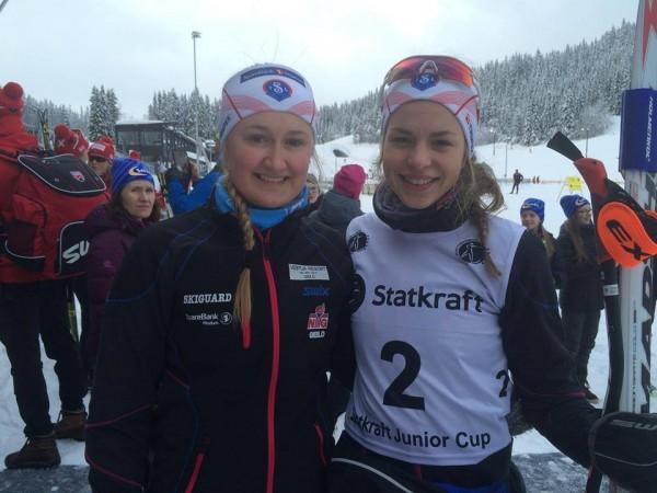 Ida og Kristiane sprinten